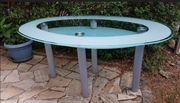 Ovaler Glasstisch 160 x 100