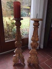 2 Sakrale Barock-Altarkerzenleuchter Frankreich wohl