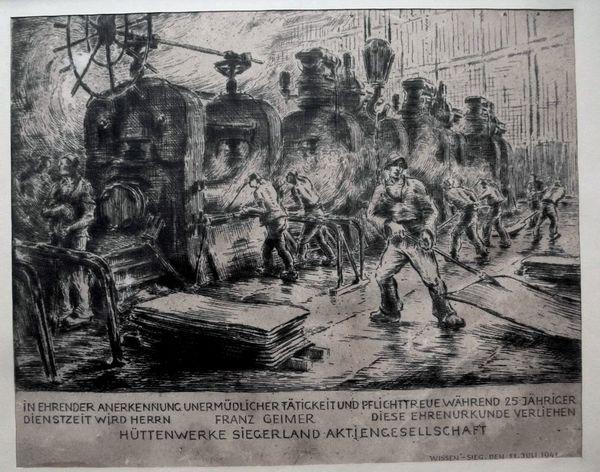 Hüttenwerke Siegerland Wissen Sieg 1941