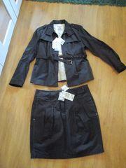 Blazer Rock Kostüm schwarz von