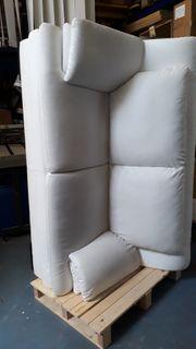 Weiße Ledercouch zu verschenken