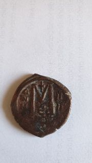 Münze Justin II Follis Nicomedia