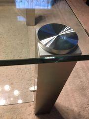 wunderschöner Glastisch schwerer Glastisch gute
