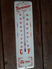 Alter Emaille Thermometer Werbung der
