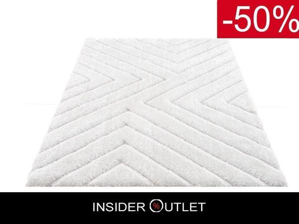 -50 Teppich 240x320cm Weiß Hochflor