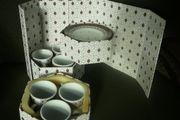 espresso Tassen Set im Schränkchen