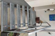 Außentreppe Metall verzinkt mit Dach