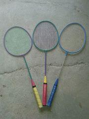 3 Badmintonschläger Federballschläger gebraucht