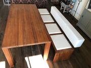 Designer-Tisch Bank amerik Nussbaum massiv