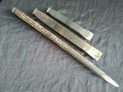 3 Alte Stemmeisen Maurerwerkzeug Eisen