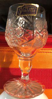 6 neue Kristall Gläser