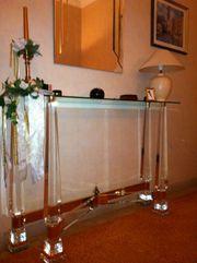 Hochwertige italienische Glaskonsole