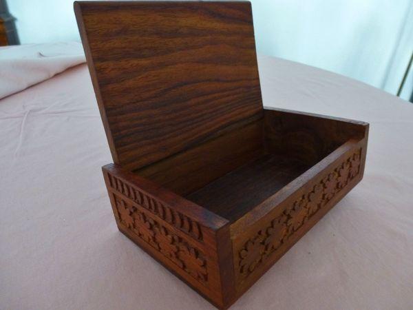 Holzkasten NEU Hochwertige Holz Schatulle