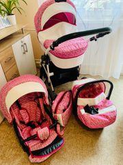 Kinderwagen Komplett Set für Mädchen