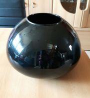 Vase schwarz, groß,