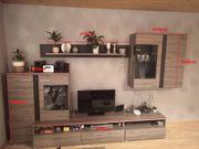 Moderne Wohnwand und Tisch 4-teilig