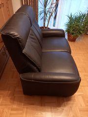 Echtleder-Sitzgarnitur zweiteilig 140cm 200cm 1x