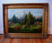 Münchner Schule gr Gemälde Ölgemälde