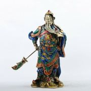 Große Statue Guan Gong Emaille