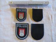 2 Ärmelabzeichen Polizei HH dunkelblau