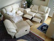 Leder Couch garnitur 3Teilig incl