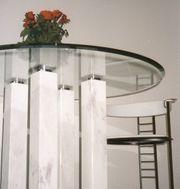 Tisch Glas Marmor Chrom - Design