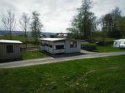 Luxus-Wohnwagen mit großem Anbau Terrasse