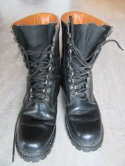 Springerstiefel Leder schwarz geschraubte Sohle