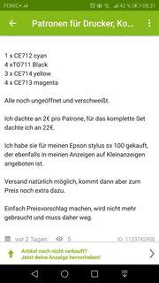 Drucker Patronen Epson stylus sx