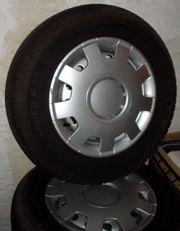 Vier Reifen auf 4-Loch Stahlfelgen