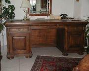 Schreibtisch mit Bücherregal VOLLMASSIV Eiche