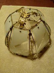 Lampenschirm - goldfarben und Milchglas