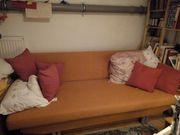 Sofa Schlafsofa orange mit 2