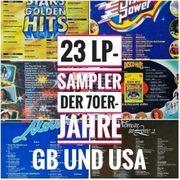 23 Vinyl-LP-Schallplatten TOP-HITS der 70er-Jahre