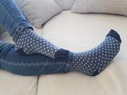 duftige getragene Socken Leggings Schuhe