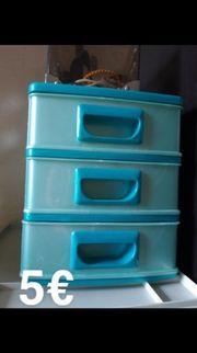 Verschiedene Schubladenboxen