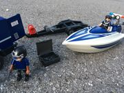 Playmobil-Set Polizei-Auto und -Boot