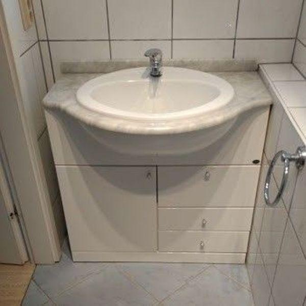 Waschbecken, 80 cm breit - Bensheim - Waschbecken, 80 cm breit, ohne Amaturen - Bensheim