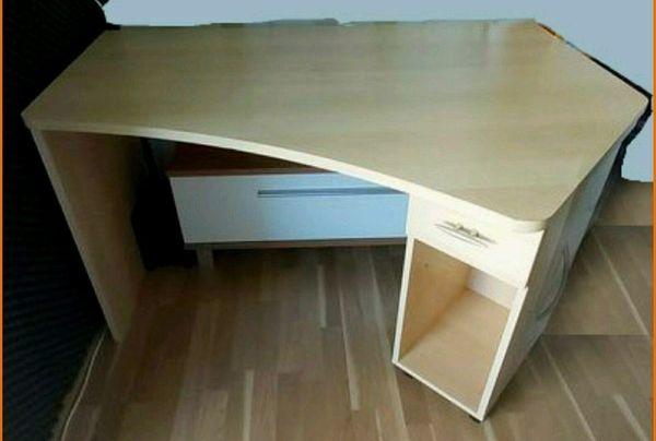 Praktischer Schreibtisch ausziehbar Dekor Ahorn