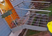 Wangentreppe aus Stahl Außentreppe Gartentreppe