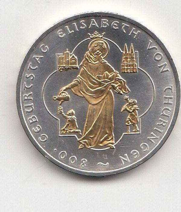 10 Euro Gedenkmünze 2007 800 Geburtstag Elisabeth Von Thüringen