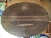 Ovaler Holztisch ausziehbar