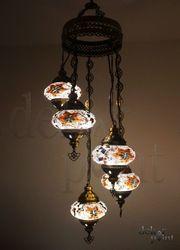Handgefertigte Glas Mosaik Hängelampe mit