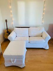 weiße Ikea Couch 2 -Sitzer