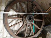 Altes Holzwagenrad Durchmesser ca 1