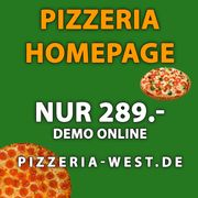 Homepage Webseite Pizzeria Restaurant 289EUR