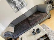 Couch Couchgarnitur Sofa XXL grau -