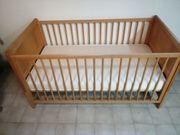 Baby - Bett umbaubar auf Kinderbett