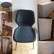 3 Tchibo Stühle gepolstert anthrazit