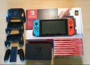 Nintendo switch konsole mit vielen